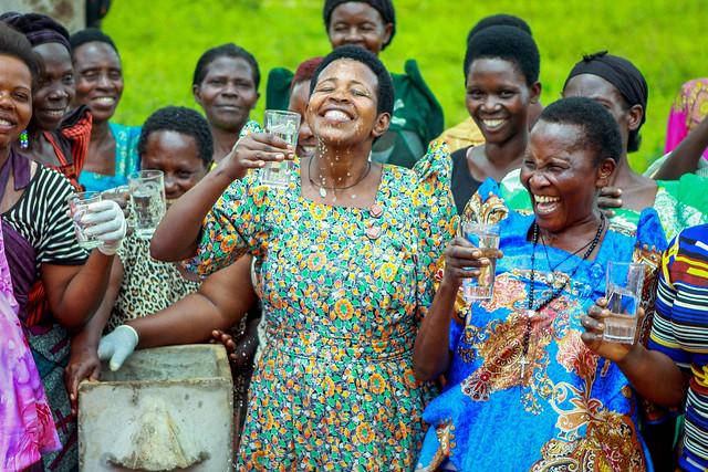 photo of women drinking water
