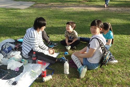 中島公園で花見