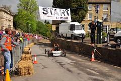over the start line