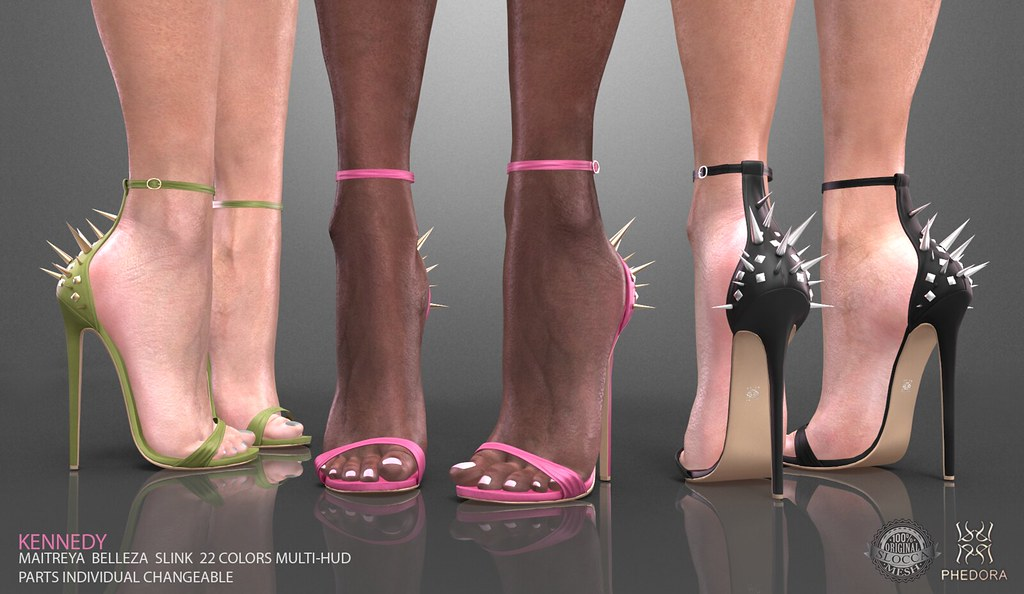 "Phedora for The Chapter 4- ""Kennedy"" spiked Heels ♥ - SecondLifeHub.com"