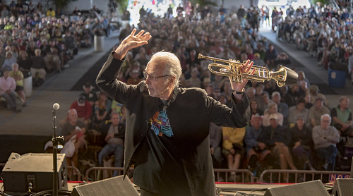 Herb Alpert set in Jazz Tent - May 4, 2017 Day 4 of Jazz Fest. Photo by Marc PoKempner.