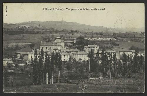 Parnans (Drôme) - Vue générale et la tour de Montmiral