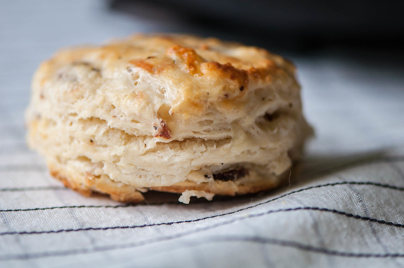 Peppered Bacon Pepper Jack Biscuits
