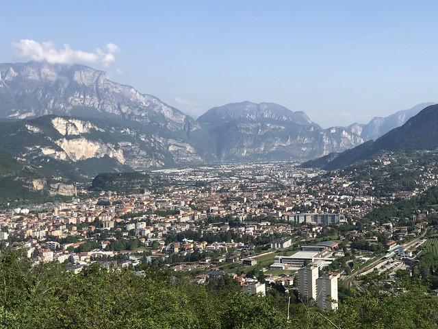 View of Trento from Bosco della Cittá