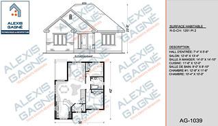 Plan de maison 1 étage - MM1e.16