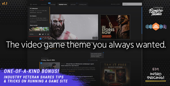 PowerUp v1.0 - Video Game Theme for WordPress