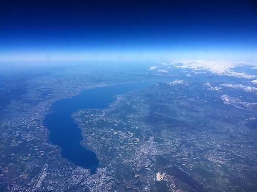 Flying Over Lake Geneva