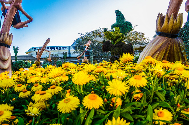 Dandelion Fantasia end monorail Epcot