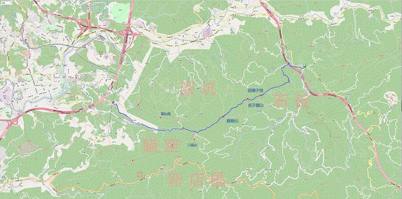005、標示軌跡路線:筆架連峰軌跡地圖
