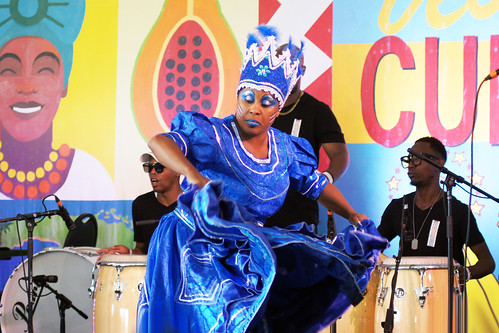 Adonis y Osain del Monte at the Cuban Cultural Exchange Pavilion on Day 5 of Jazz Fest - May 5, 2017. Photo by Bill Sasser.
