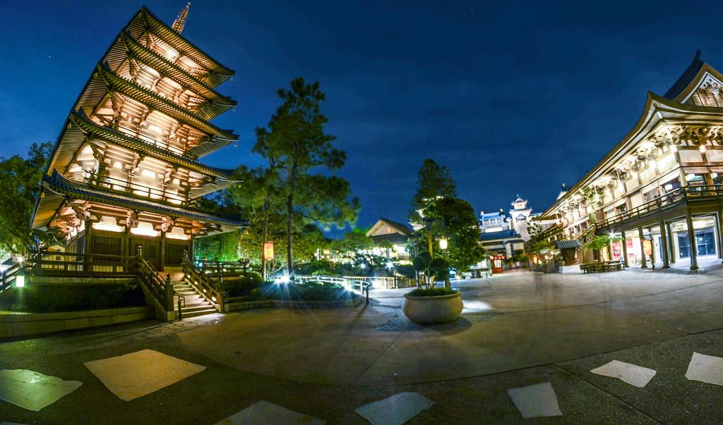 Japan Pavilion Epcot night
