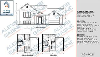 Plan de maison 1 étage avec garage - MM1eG.08