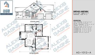 Plan de maison 1 étage avec garage - MM1eG.05