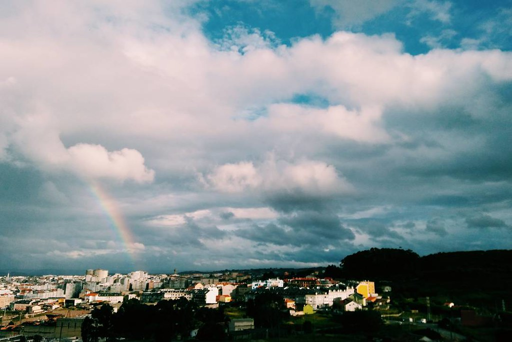 Spring skies in Coruña. #rainbow #Coruña #skyphoto #clouds #photography #phonephoto #vsco