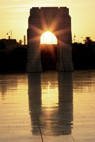 oman muscat maskat sunset gate opera sunstar reflection