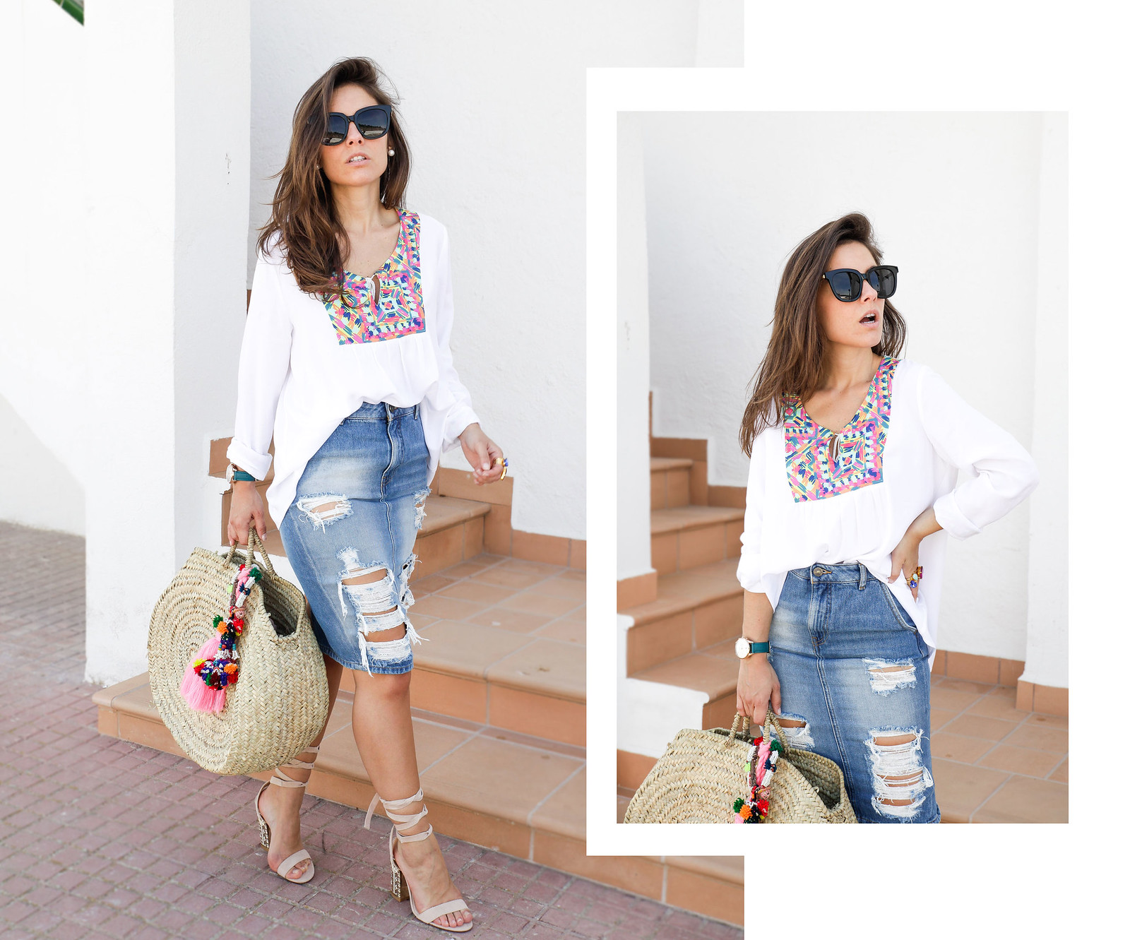 010_ripped_denim_skirt_white_shirt_ruga_style_theguestgirl_barcelona