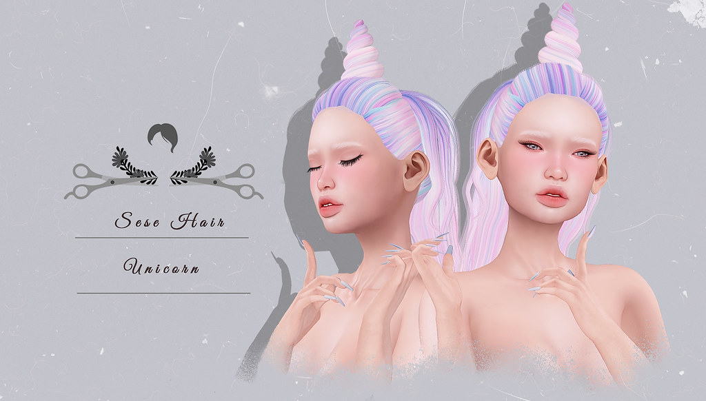 Sese Unicorn Hair @ The Chapter Four - SecondLifeHub.com