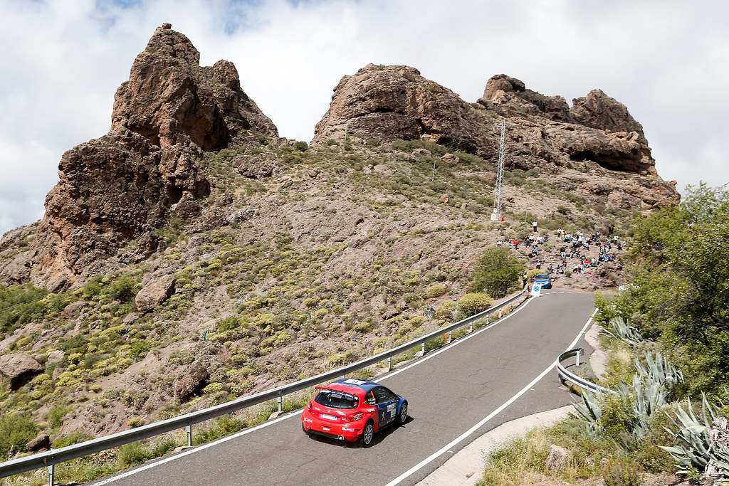 09 SUAREZ Jose Antonio (ESP), ESTEVEZ Candido (ESP),  Peugeot 208 T16 Action during the 2017 European Rally Championship ERC Rally Islas Canarias, El Corte Inglés,  from May 4 to 6, at Las Palmas, Spain - Photo Alexandre Guillaumot / DPPI