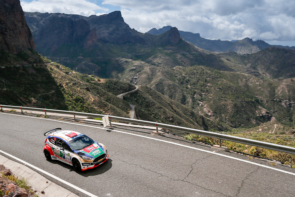 14 BOSTANCI Murat (TUR), VATANSEVER Onur (TUR), Ford Fiesta R5 Action during the 2017 European Rally Championship ERC Rally Islas Canarias, El Corte Inglés,  from May 4 to 6, at Las Palmas, Spain - Photo Alexandre Guillaumot / DPPI