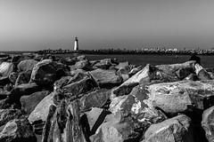 Walton Lighthouse Beyond the Rocks
