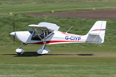 G-CIYP - 2016 build Aeropro Eurofox, departing from Runway 26R at Barton