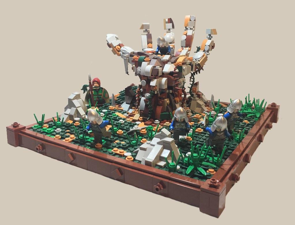 Awakening The Elemental (custom built Lego model)