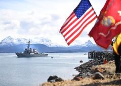 USS Hopper arrives in Homer, Alaska.