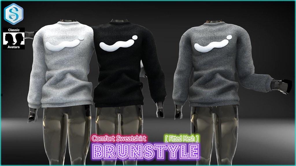 [BrunStyle] Comfort Sweatshirt (Fitted Mesh) - SecondLifeHub.com