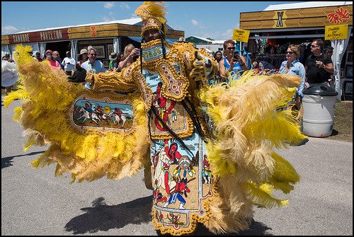 9th Ward Navajo Big Chief during Jazz Fest Day 5 on May 5, 2017. Photo by Ryan Hodgson-Rigsbee www.rhrphoto.com