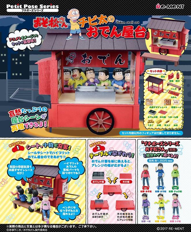 RE-MENT 《小松君》「豆丁太的關東煮攤車」! プチポーズ おそ松さん チビ太のおでん屋台