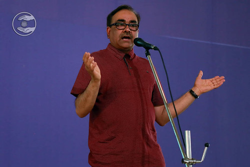 Devotee from United Kingdom, Harjinder Singh, expresses his views