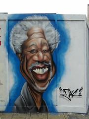 Morgan Freeman, JXC graffiti