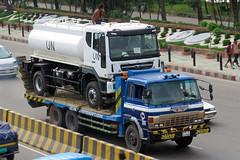 Truck on truck: Hino Ranger flatbed, Bangladesh.