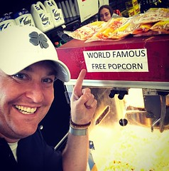Best photobomb!  Lol!  Also love @allredsacehardware world famous popcorn!