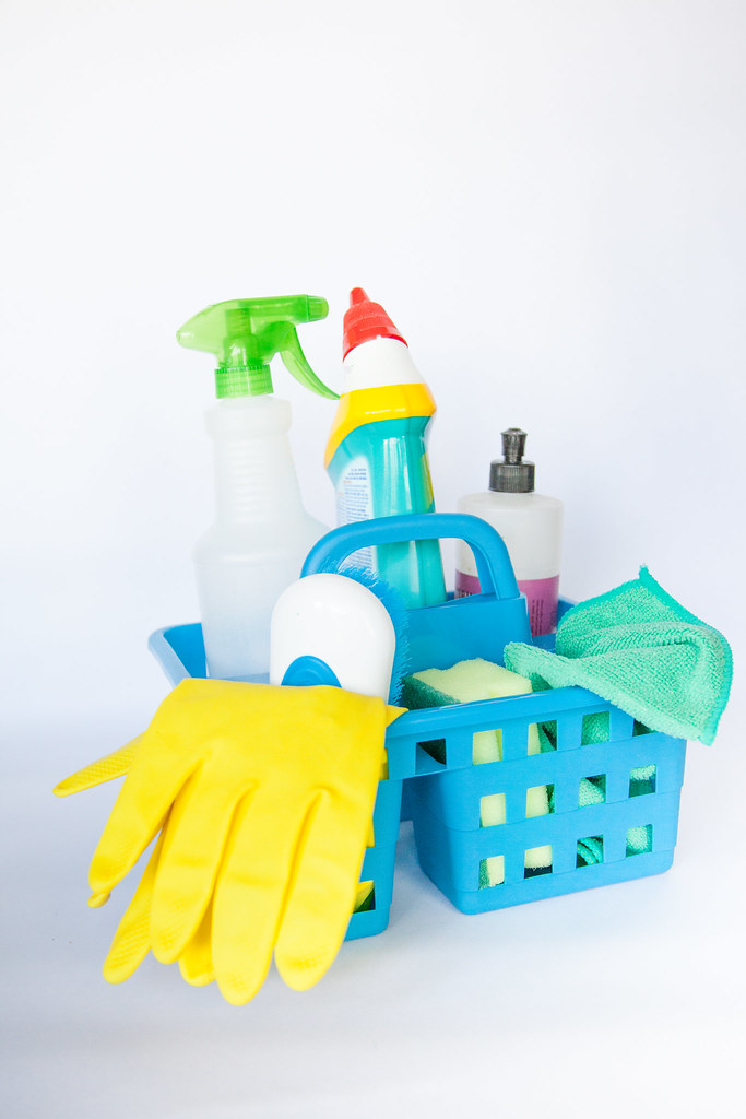 home cleaning products and supplies