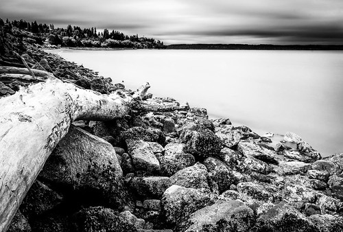 howarthpark blackandwhite longexposure storm shoreline trinterphotos beachlog possessionsound