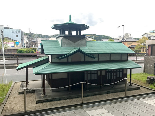 旧本宿駅の模型 (@ 本宿駅 in 岡崎市, 愛知県)