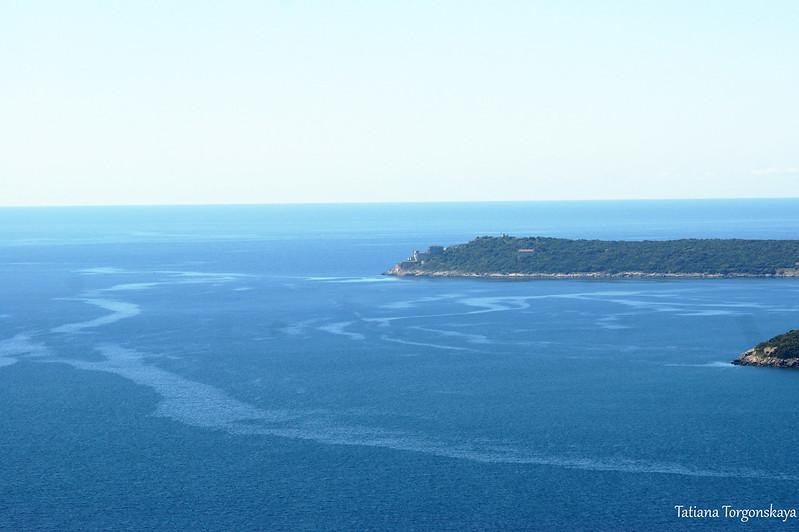 Полуостров Превлака и Адриатическое море