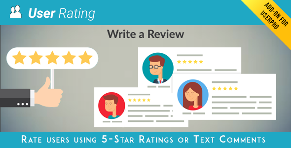User Rating Review Add on for UserPro v3.8.1