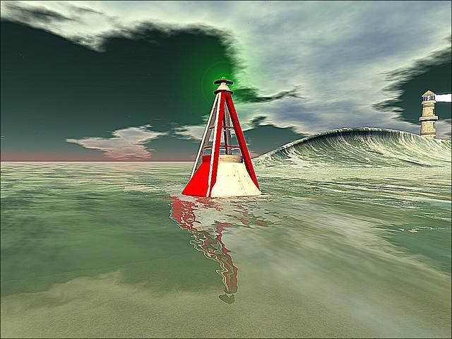 Ocean Shores Surf Beach  -Sharpened Buoy