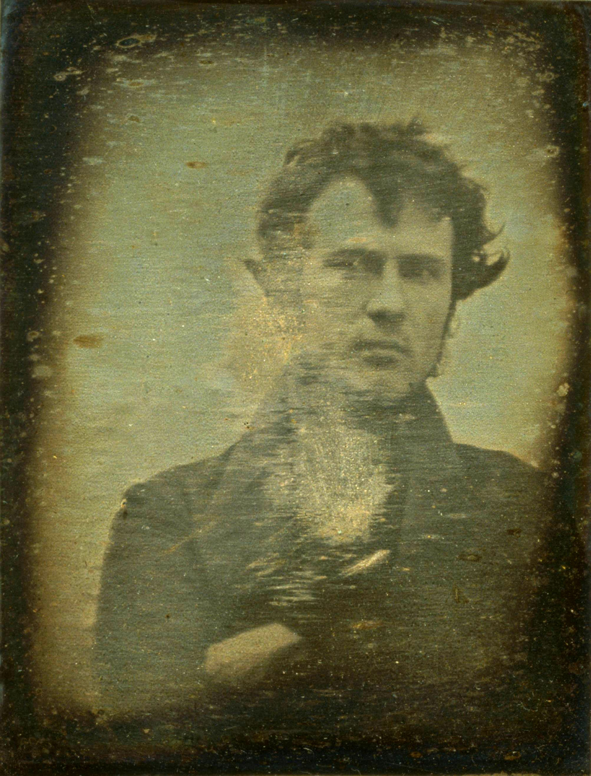 First 'Selfie' photograph of Robert Cornelius, 1839