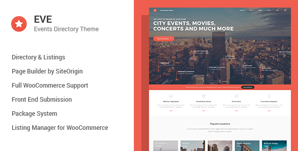 EVE v1.0.19 - Events Directory WordPress Theme