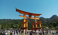 Miyajima, Hiroshima, Torii gate during low tide