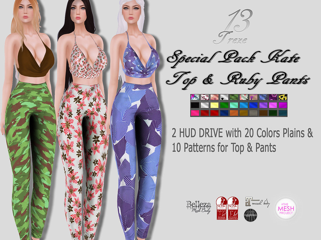 ★13 Treze★ Special Pack Kate Top & Ruby Pants - SecondLifeHub.com