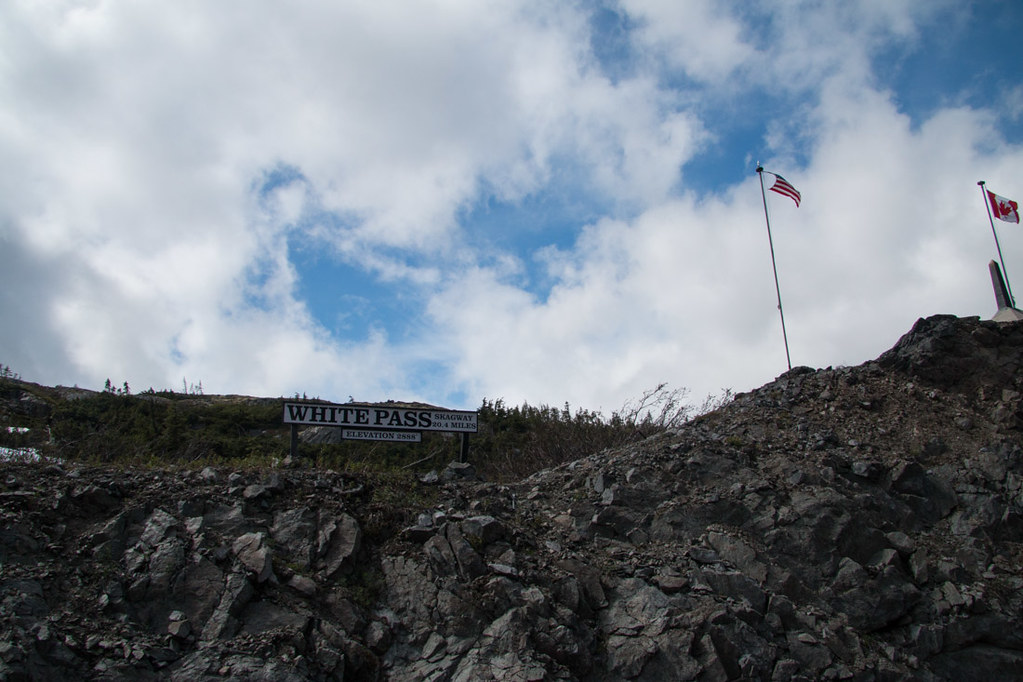 US-Canadian border at White Pass summit