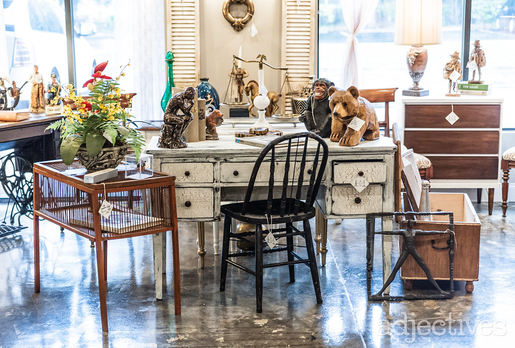 Vintage Desk and Chair, and dresser in Altamonte by The Eclectic Pair