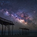 Rising Tide...  Milky Way over Frisco (Hatteras) Pier, Outer Banks, North Carolina by jason_frye