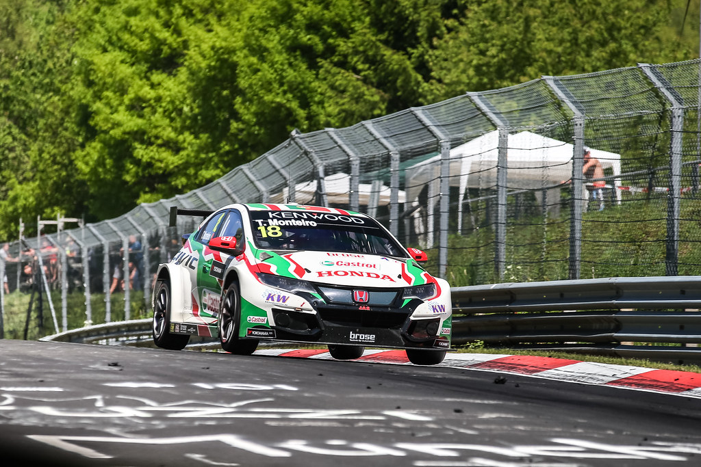 18 MONTEIRO Tiago (prt), Honda Civic team Castrol Honda WTC, action during the 2017 ETCC European Touring Car Championship race at Nurburgring, Germany from May 26 to 28 - Photo Antonin Vincent / DPPI