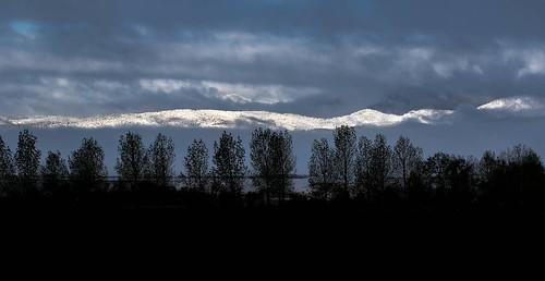 bigvern canon 7dii denver colorado landscape winter snow silhouette mountains sunrise storm