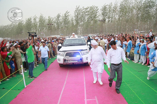 Arrival of Her Holiness at Santsang Pandal Shahpur